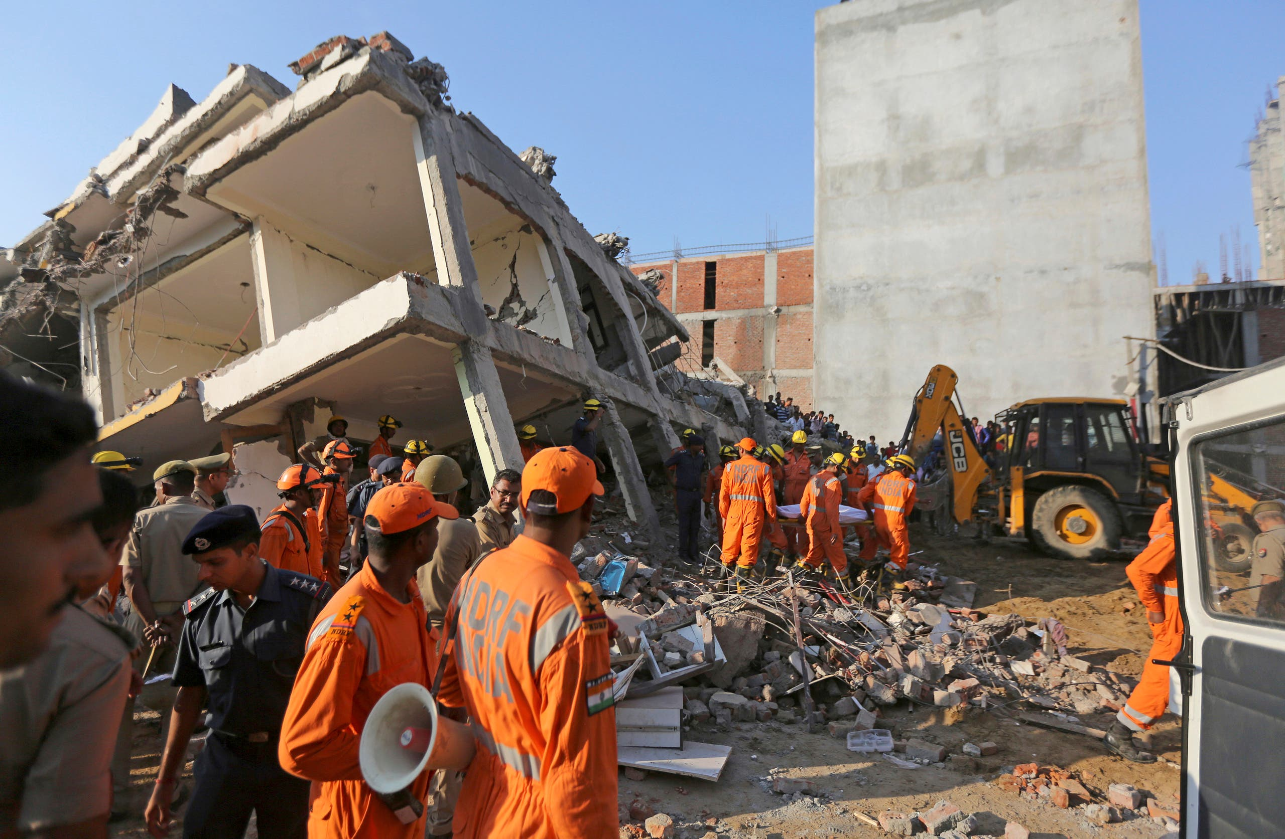 Building collapse in India. (AP)