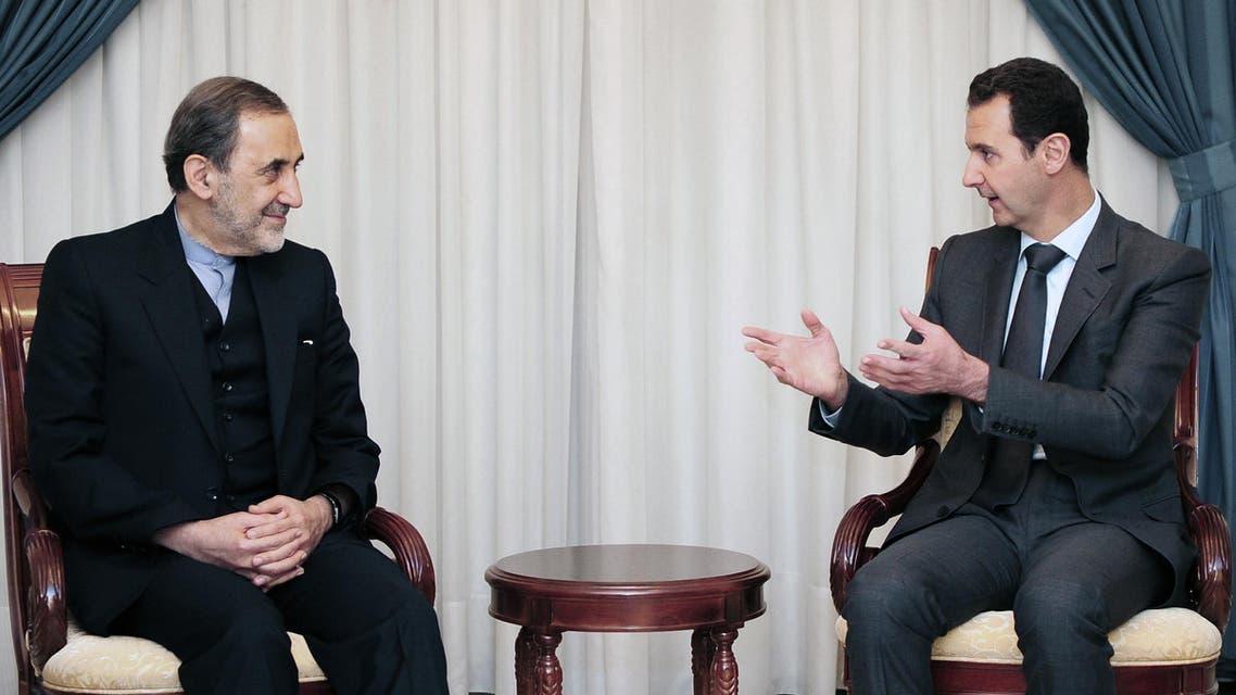 الأسد وولايتي في دمشق في 2015