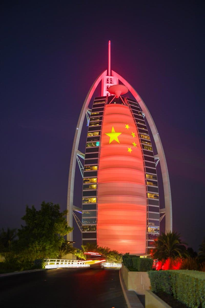 The number of Chinese companies operating in the UAE has exceeded 4,000. (Twitter)
