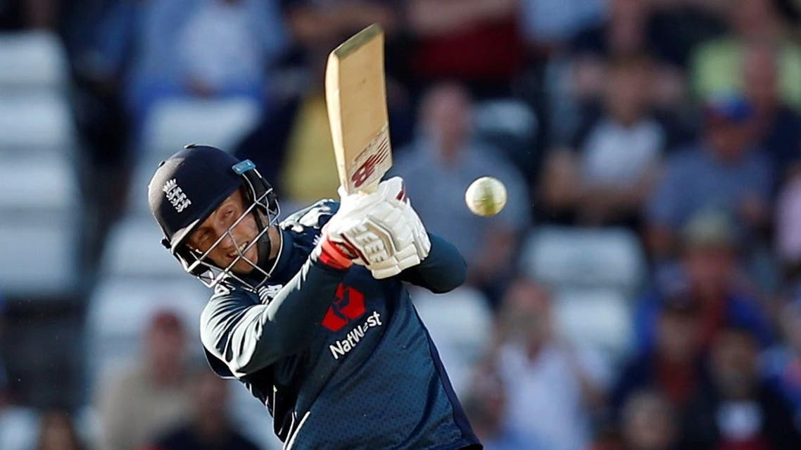 England's Joe Root hits a four for his century and to win the match. (Reuters)