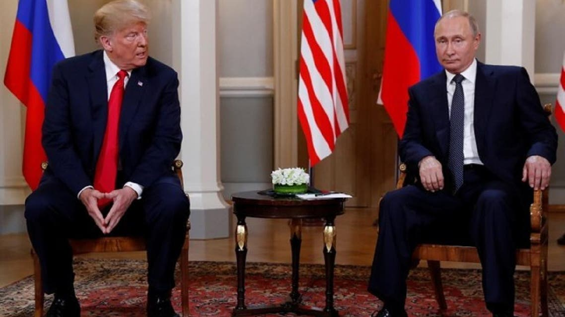 US President Donald Trump and Russian President Vladimir Putin, during a meeting at Helsinki. (File Photo: Reuters)