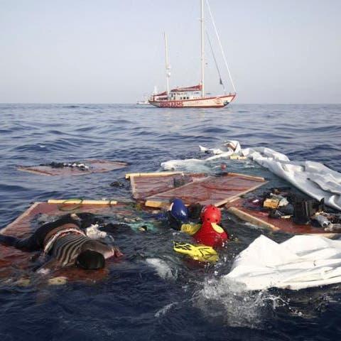 فيديو مؤلم.. جثة امرأة وطفل مهاجرين تم تركهما وسط البحر