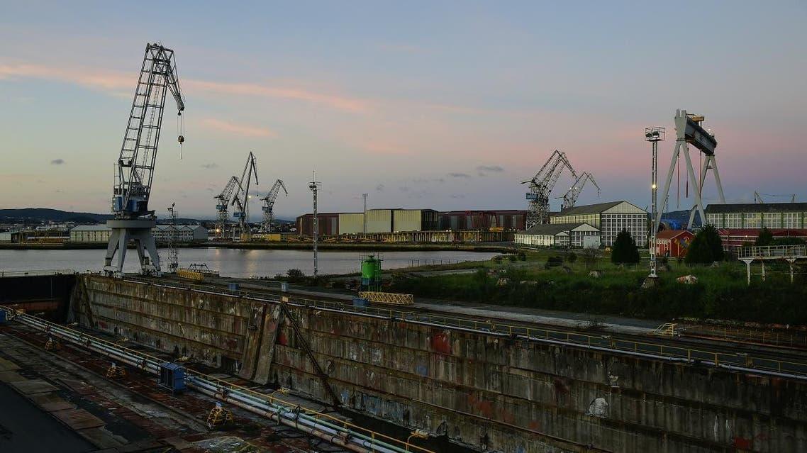 General view of the Navantia shipyard in Fene, northwestern Spain on December 26, 2016. (AP)audi military Industries and Spain  Saudi Arabia