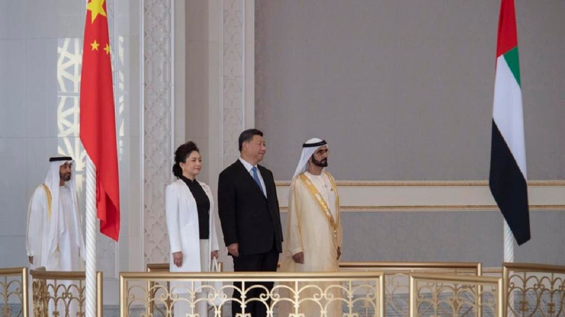 President Xi Jinping  with First Lady Peng Liyuan arrived on Thursday in the UAE on a state visit. (WAM)