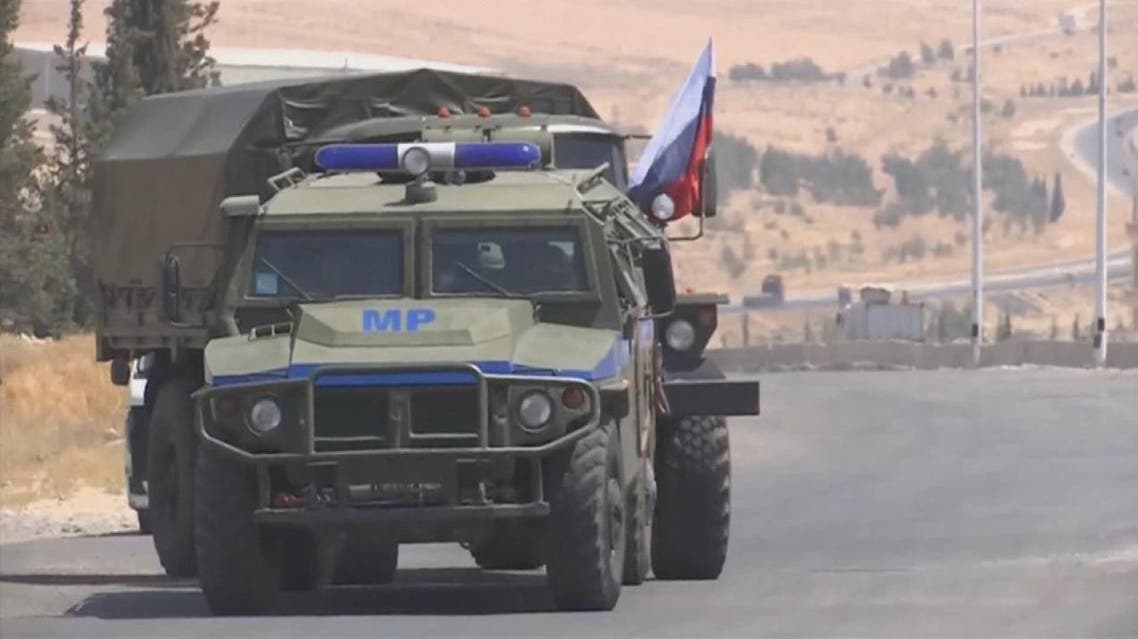 Russian military vehicle in Syria (Supplied)