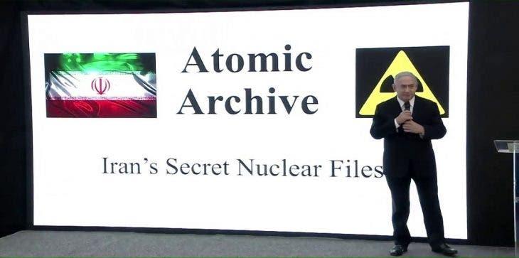 نتانياهو در حال تشریح چگونگی سرقت اسناد هستهای ایران