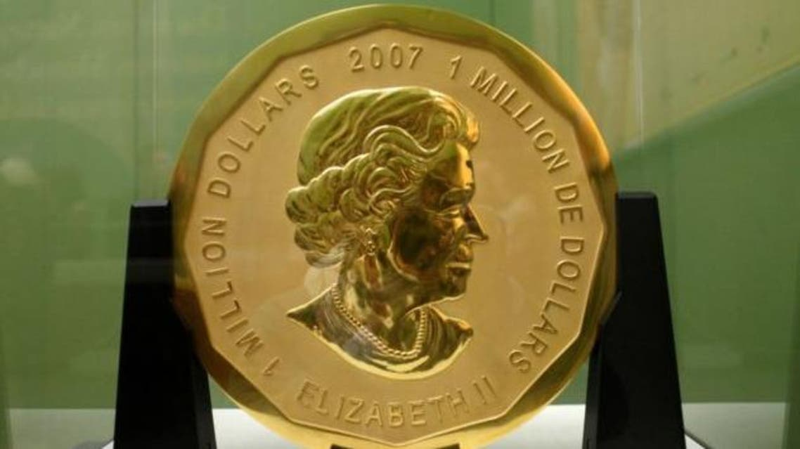 """The stolen """"Big Maple Leaf"""" in 2010: One of six such Canadian coins AFP"""