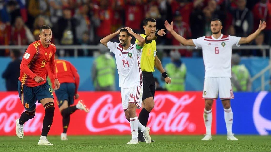 Morocco v Spain WC (AFP)