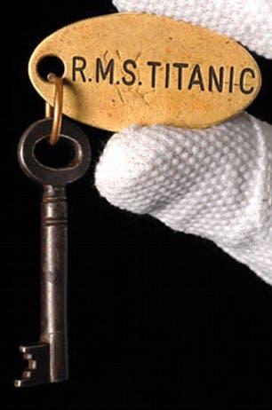 صورة لما يعتقد أنه مفتاح خزينة المناظير والذي كان قادرا على إنقاذ التيتانيك