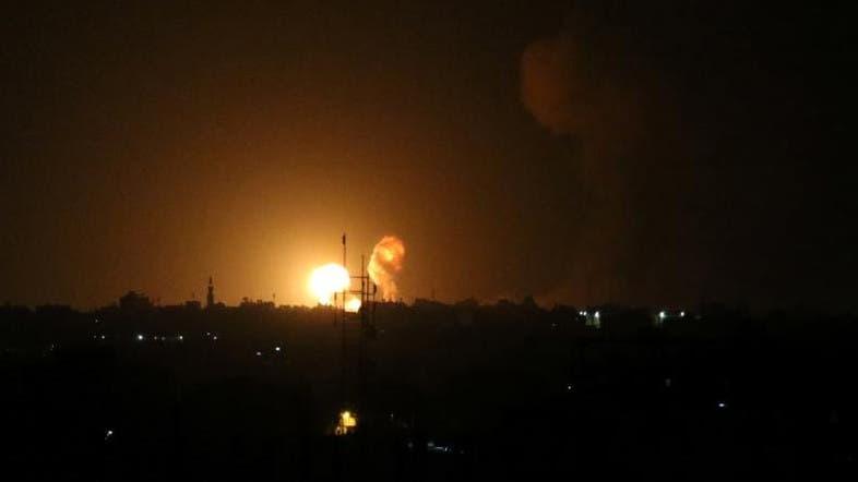 انفجار عقب غارة جوية إسرائيلية في جنوب قطاع غزة الجمعة