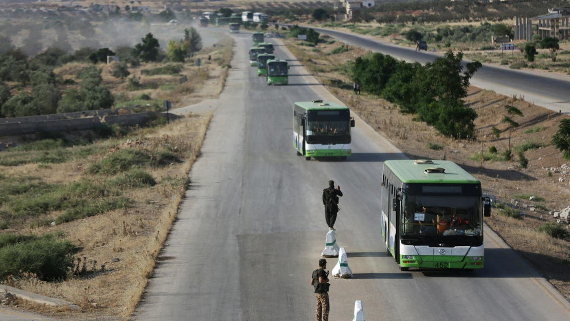 Rebels and civilians arrive in Hama from Deraa, Syria. (File Photo: Reuters)