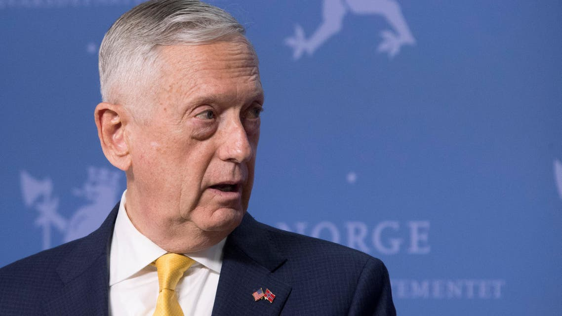 U.S. Secretary of Defence James Mattis addresses a press conference at the Ministry of Defence in Olso, Norway, July 14, 2018. Jim Watson/Pool via REUTERS
