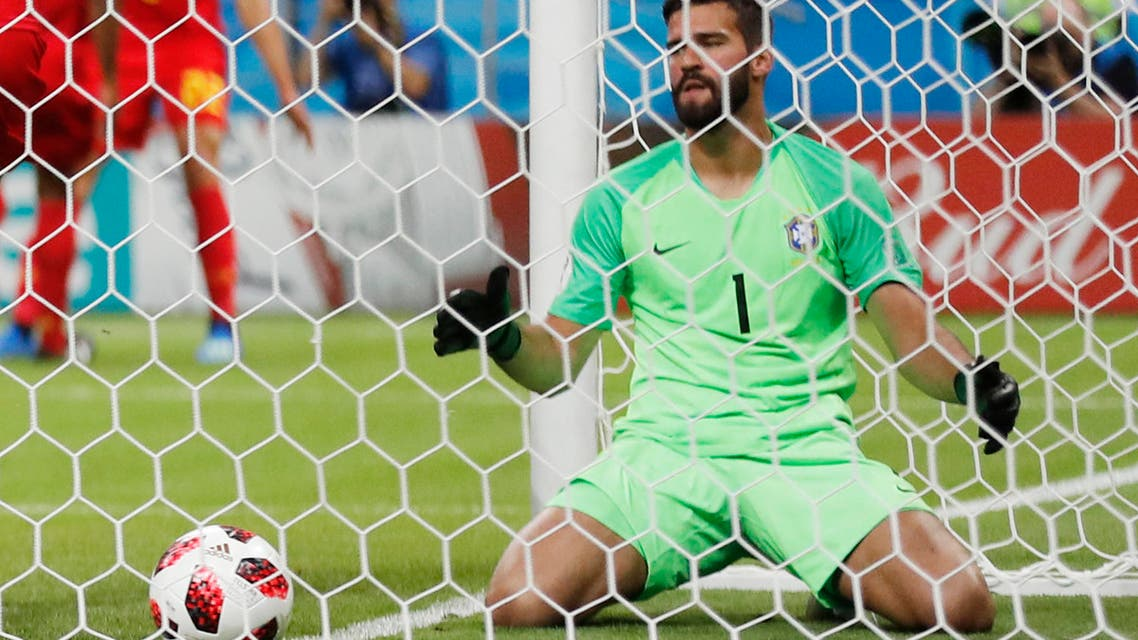 Alisson goalkeeper Liverpool. (AP)