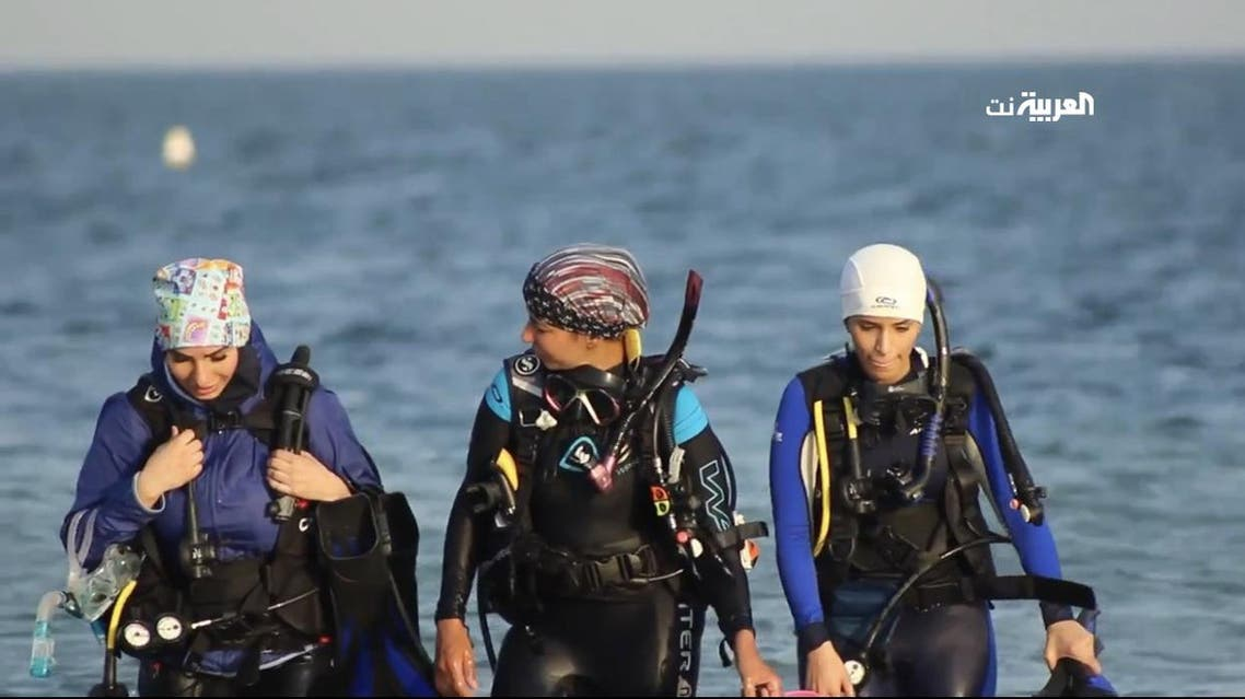 Aisha Hajjaj Saudi diver. (Supplied)