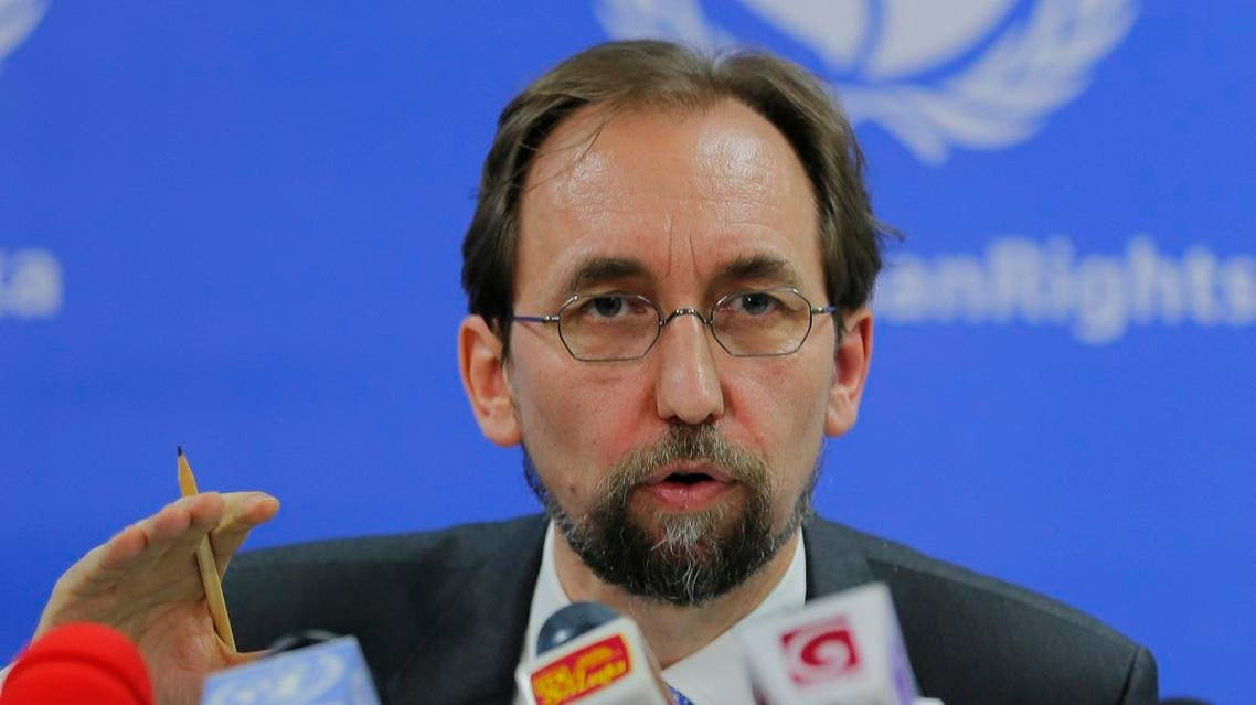United Nations High Commissioner for Human Rights Zeid Ra'ad al-Hussein addresses the media. (File photo: AP)