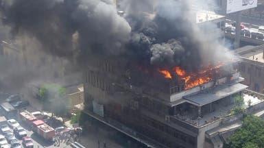 ماس كهربائي.. حريق ضخم في قلب القاهرة
