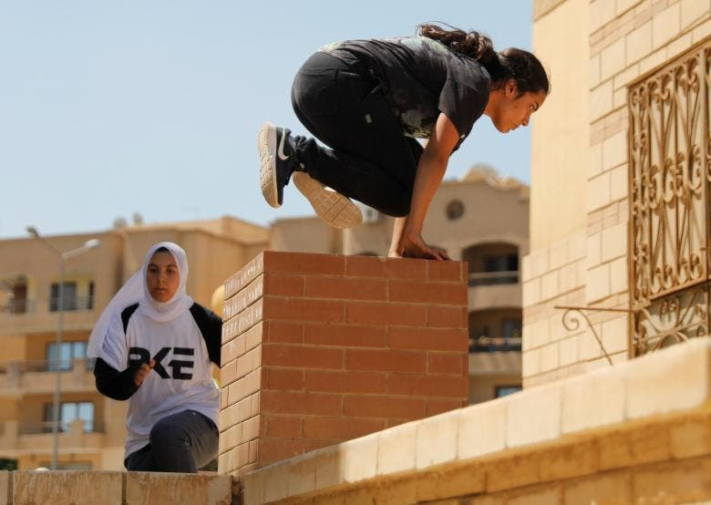 Egyptian women challenge social norms with Parkour