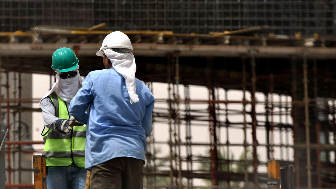Workers at a construction site in Riyadh on June 7, 2011. (File photo: AFP)