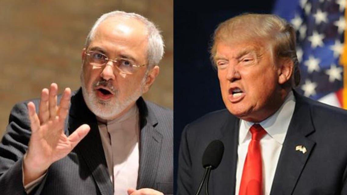 Jawad zarif and Donald Trump