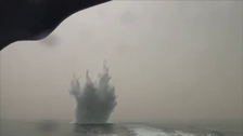 VIDEO: Yemeni army detonates Houthi mines off Midi's Habil port