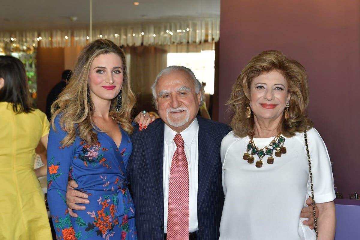 البروفيسور اللبناني الأمريكي فيليب سالم مع زوجته وابنته