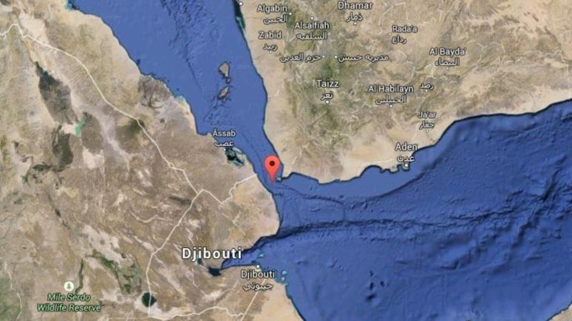 Bab el-Mandeb, which is 25 kilometers wide, is a very important waterway for global navigation. (Google Maps)