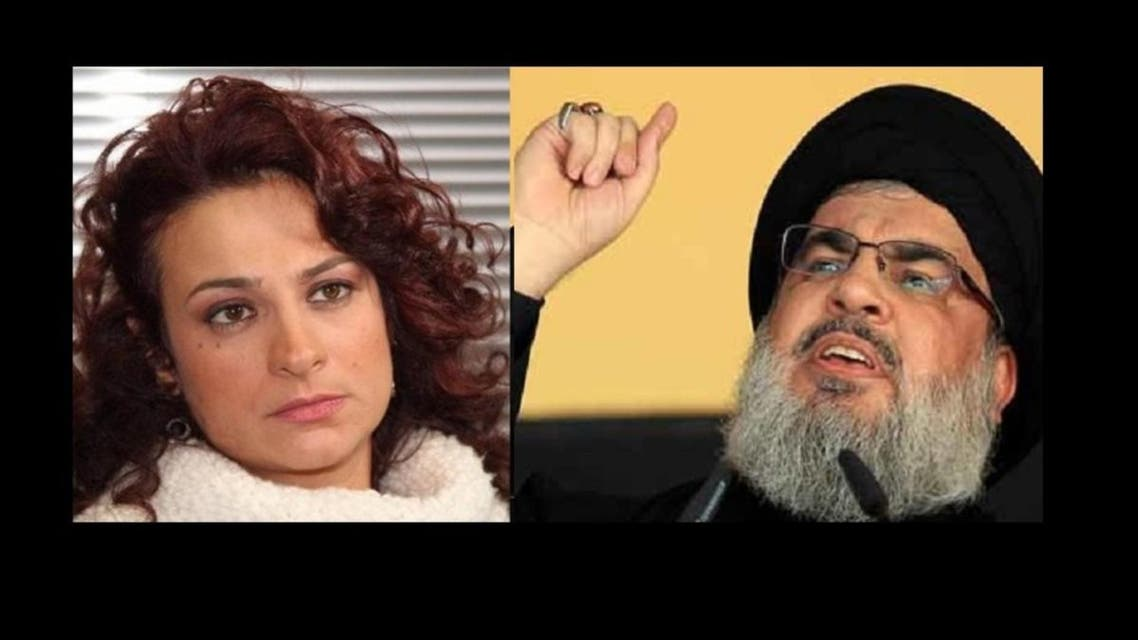 mai skaf and hassan nassrallah (Screengrab)