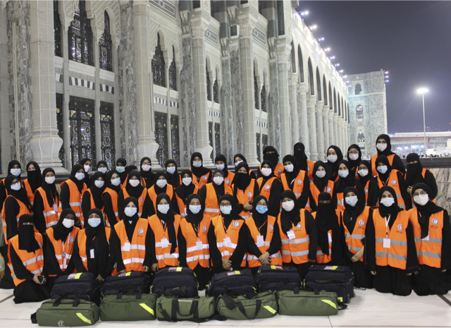 Saudi volunteer hajj 1 (Supplied)
