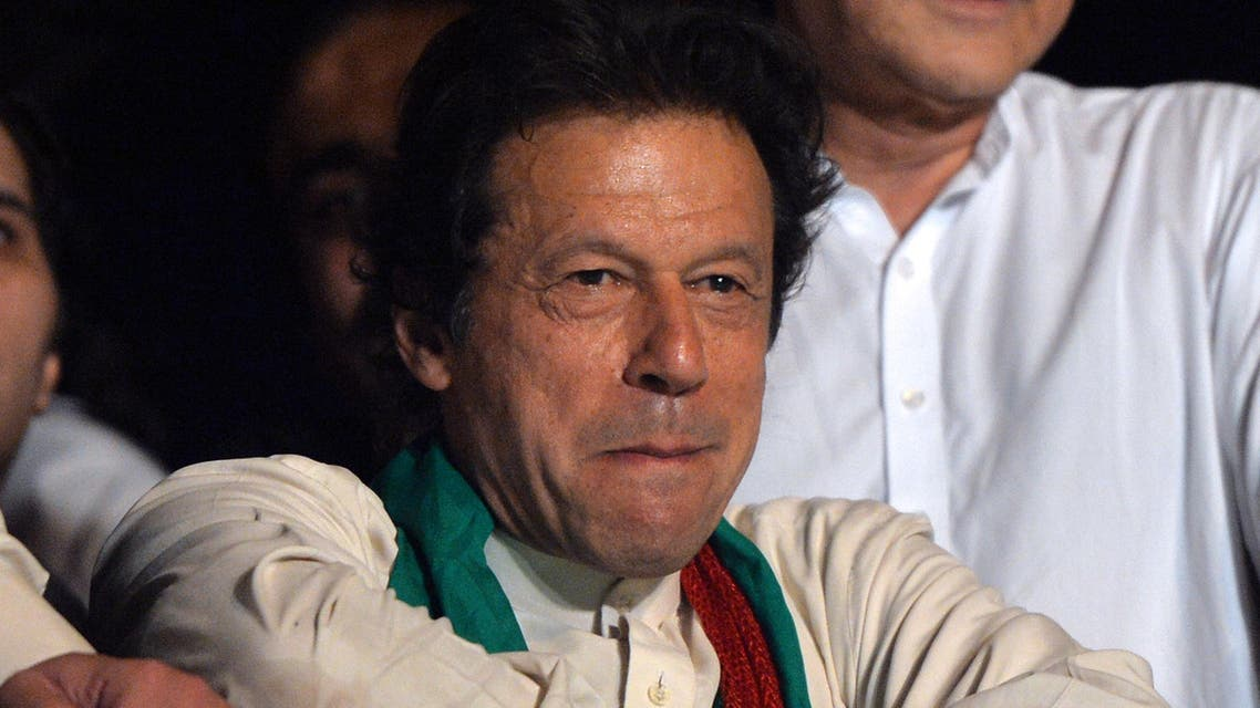 Imran Khan attends a rally in Islamabad on August 17, 2014. (AFP)