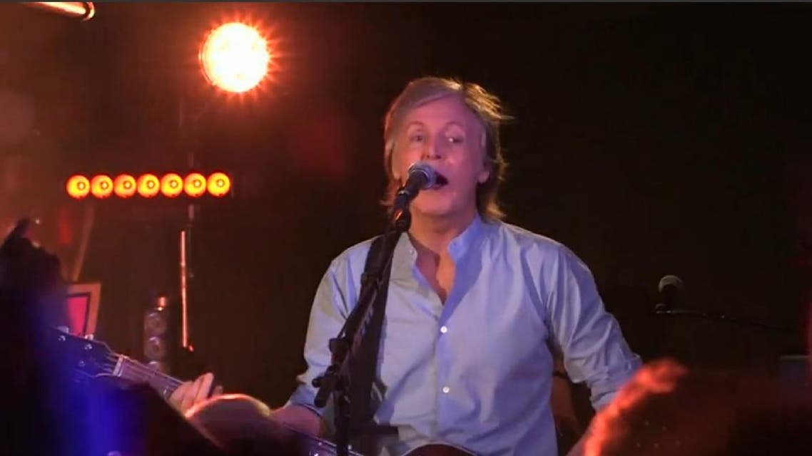 """McCartney, whose latest album """"Egypt Station"""" comes out in September, played a wide-ranging set list including Beatles hits """"Magical Mystery Tour"""" and """"I Saw Her Standing There"""", which got the loudest cheers from the audience. (Screengrab: Reuters)"""