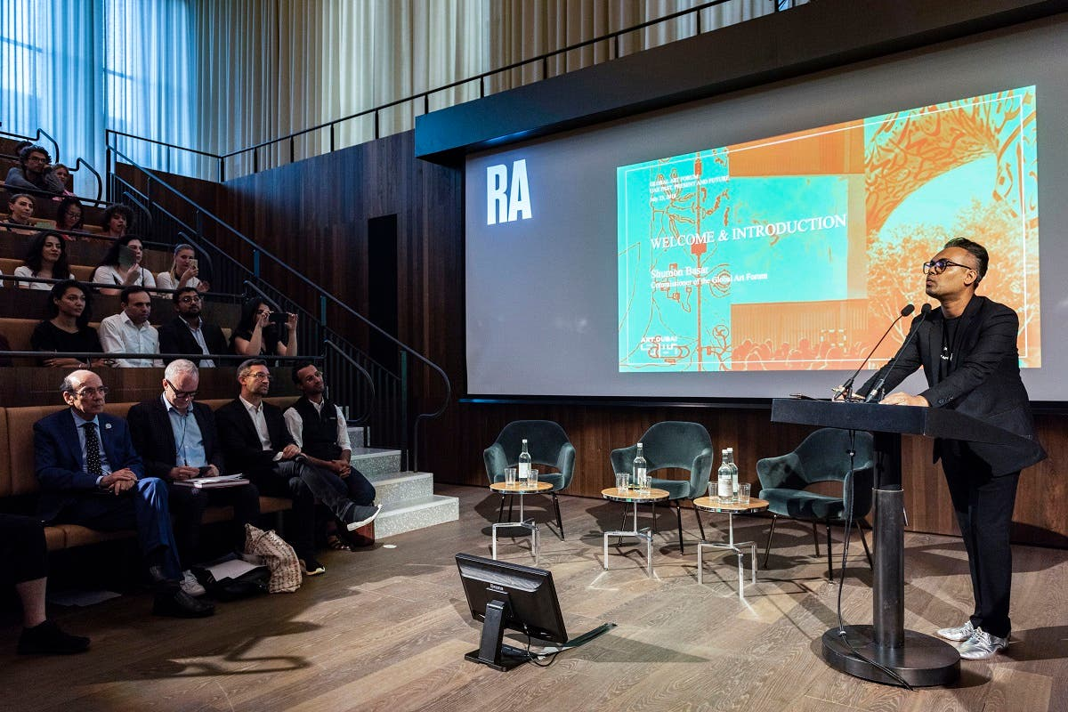 Shumon Basar, Commissioner, Global Art Forum, at the Royal Academy of Arts in London. (Courtesy: Art Dubai)