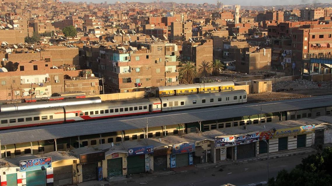 A picture taken on April 7, 2014 shows the train station of the southern Egyptian city of Aswan.
