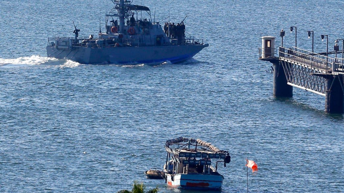 قطعة بحرية إسرائيلية في ميناء أسدود