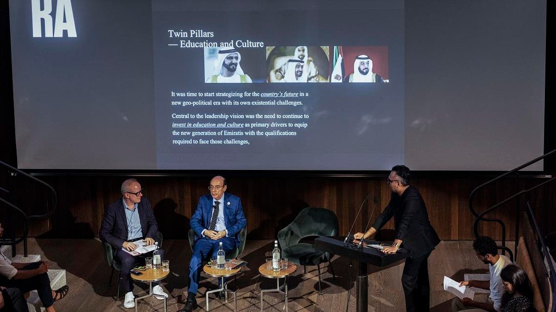 The special summer edition of the Global Art Forum was  presented to a full house of art enthusiasts at the Royal Academy of Arts in London. (Courtesy: Art Dubai)