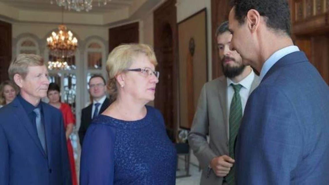 خانواده کشتهشدگان روس در سوریه با بشار اسد دیدار کردند