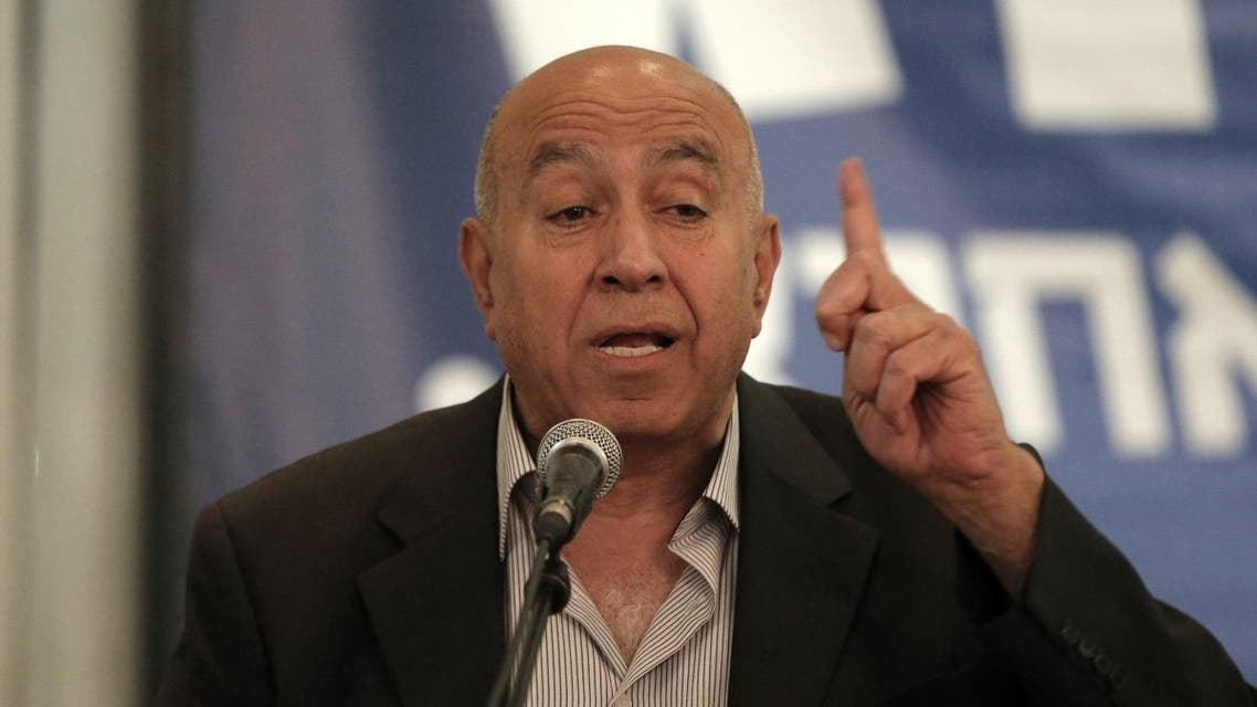 Zouheir Bahloul, of the opposition Zionist Union party, said he could not face telling his grandson that he remained part of the same chamber which passed the law. (File photo: AFP)