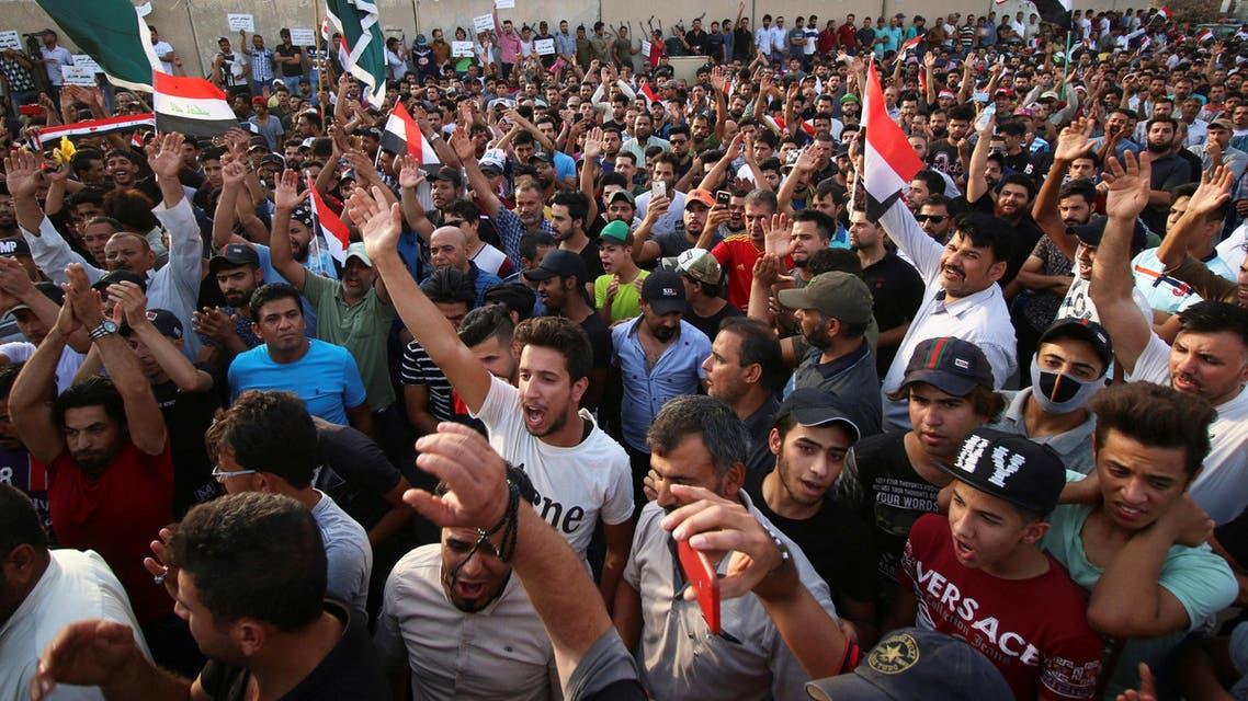 من تظاهرات البصرة يوم 27 يوليو