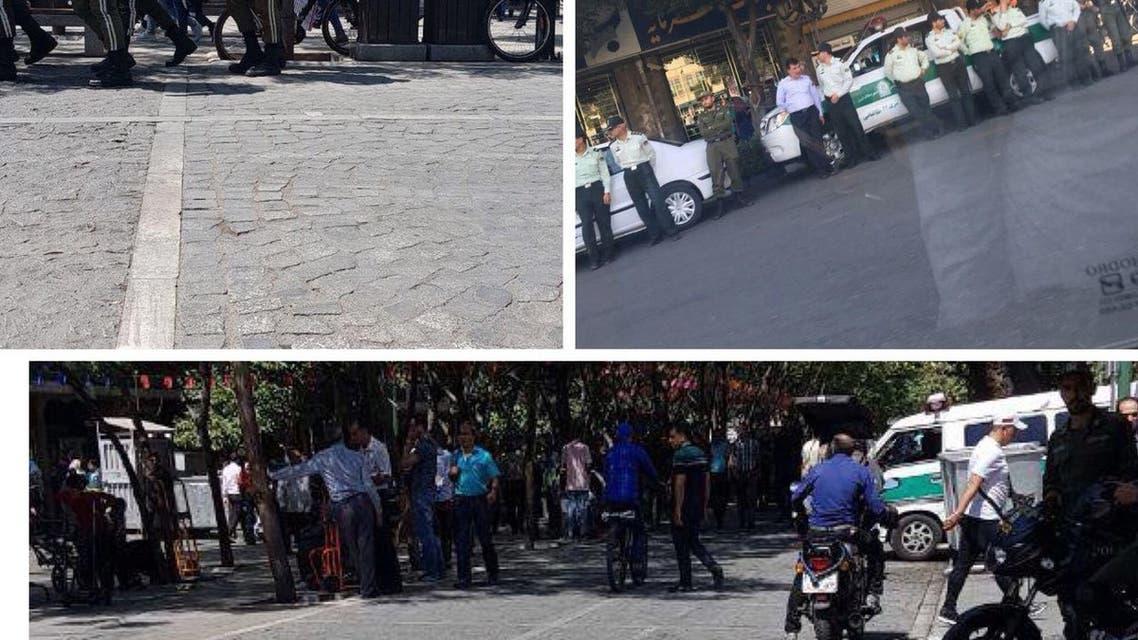 الأمن الايراني يطوق بازار طهران