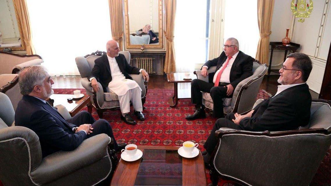 رهبران حکومت افغانستان با جنرال دوستم دیدار کردند