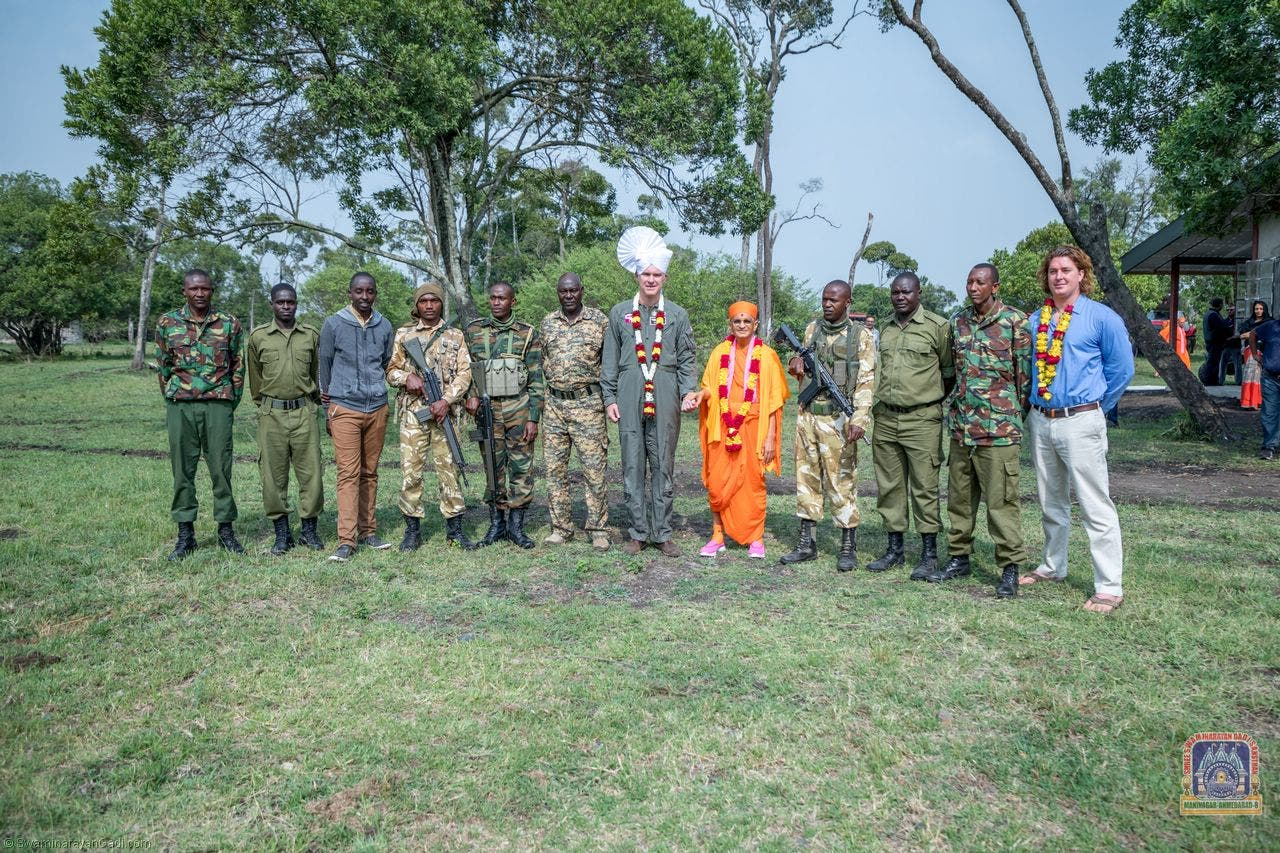 The Scottish band of Nairobi's Swaminarayan sect often raises funds for wildlife conservation. (Supplied)