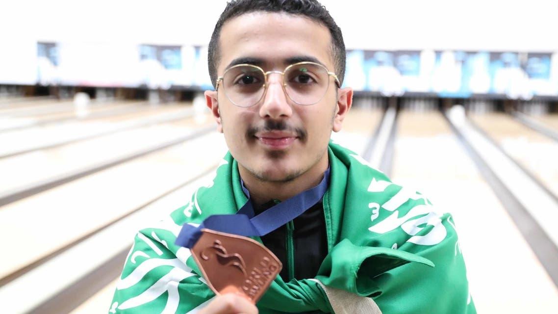 عبدالرحمن الخليوي لاعب المنتخب السعودي للبولينغ
