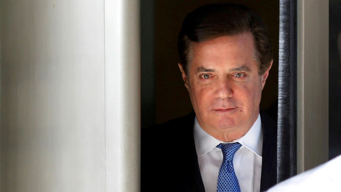 FILE PHOTO: Former Trump campaign manager Paul Manafort departs from U.S. District Court in Washington, DC, U.S., February 28, 2018. REUTERS/Yuri Gripas/File Photo