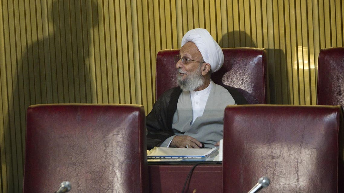 Mesbah-Yazdi during the assembly session in Tehran on September 6, 2011. (AFP)