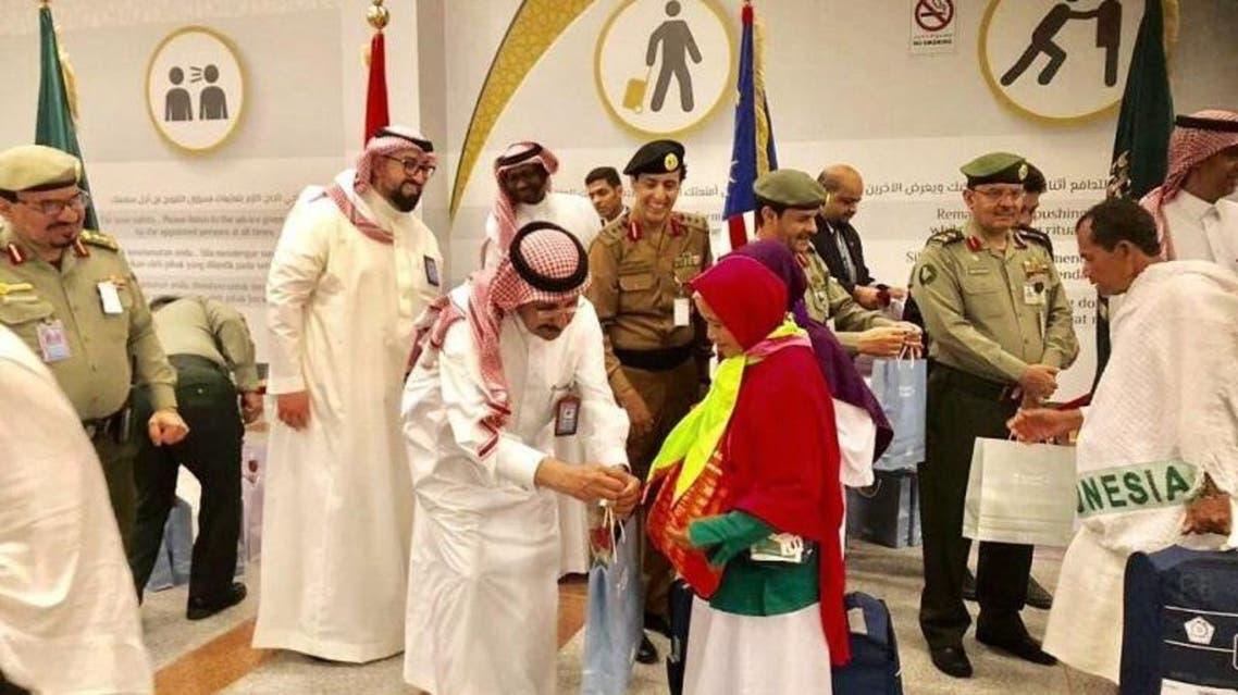Indonesia pilgrims arrive in Jeddah. (SPA)