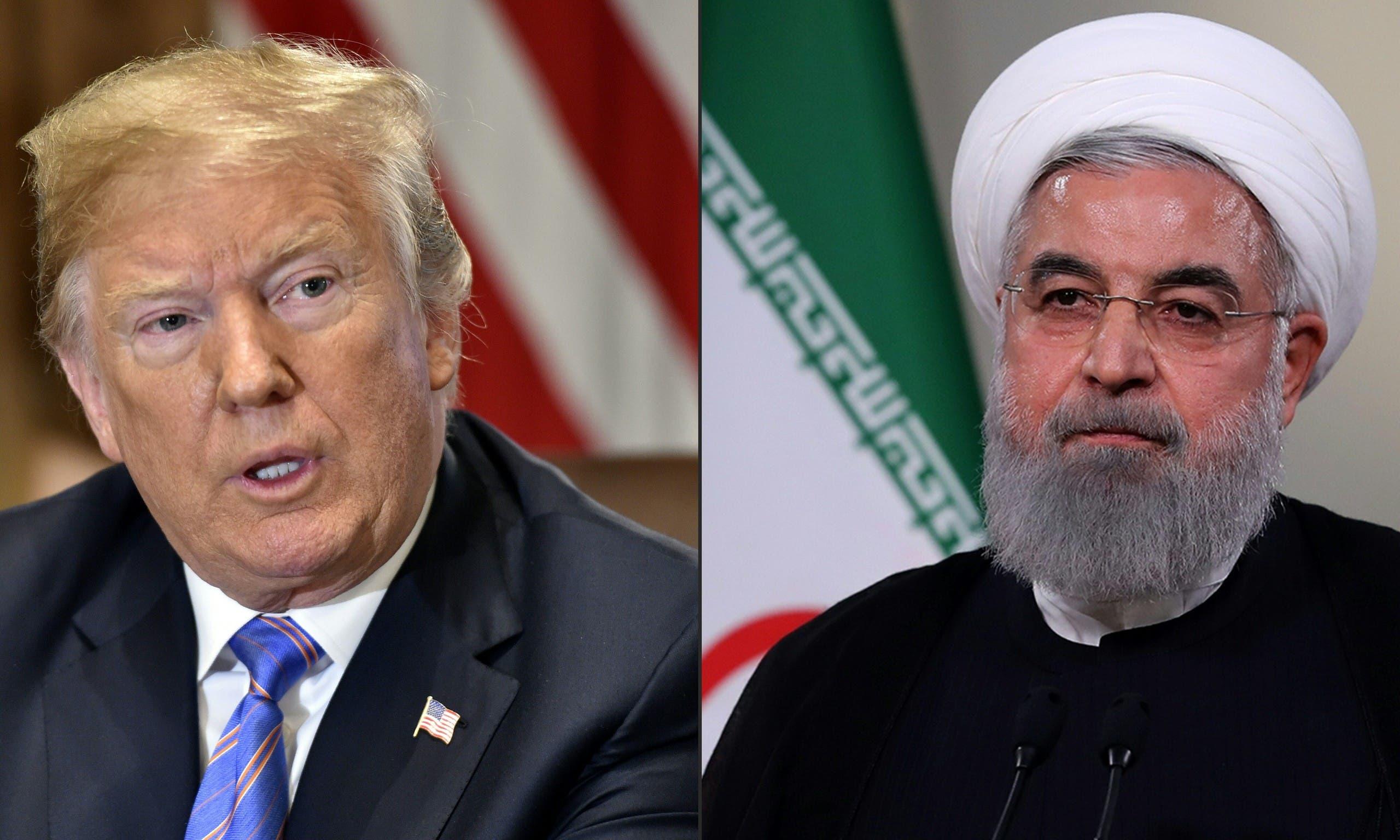 الرئيسان الإيراني حسن روحاني والأميركي دونالد ترمب