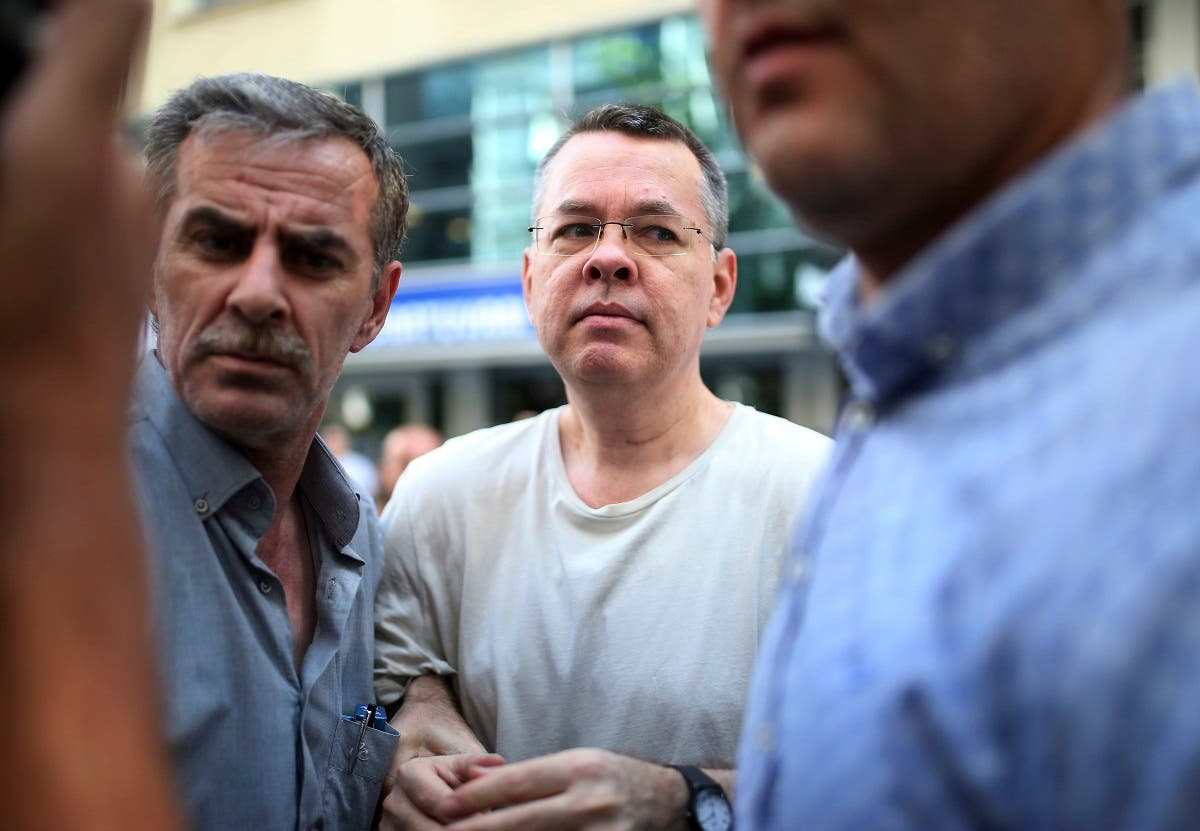 Andrew Craig Brunson, an evangelical pastor from Black Mountain, North Carolina, arrives at his house in Izmir, Turkey. (AP)