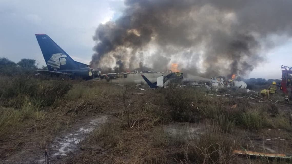 من حادث سقوط الطائرة المكسيكية