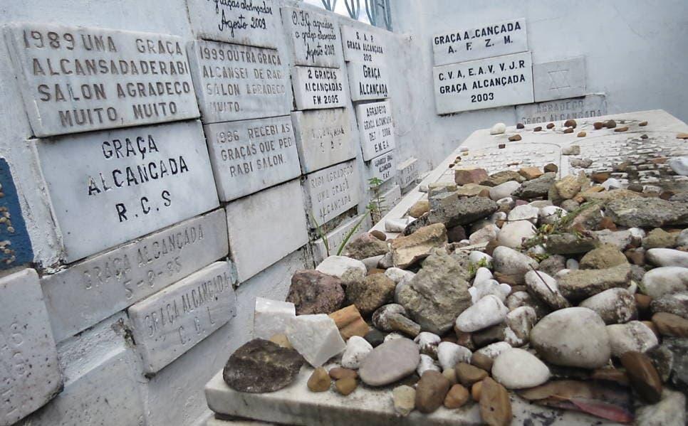 Rabbi Shalom Muyal's grave in Manaus. (Supplied)