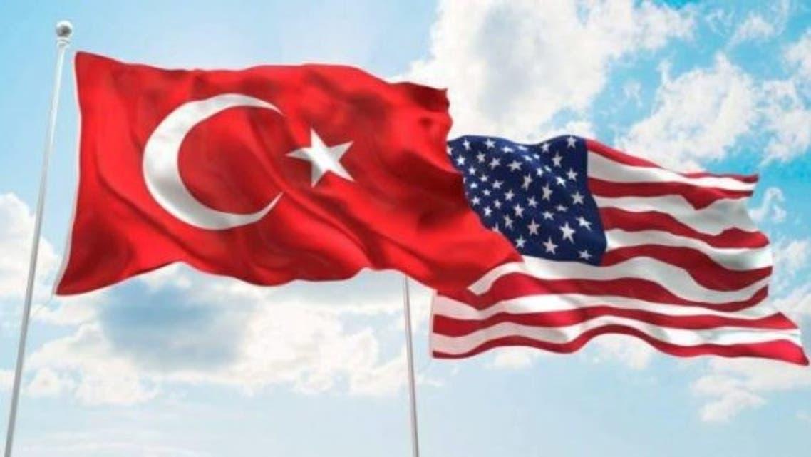 علم تركيا أميركا