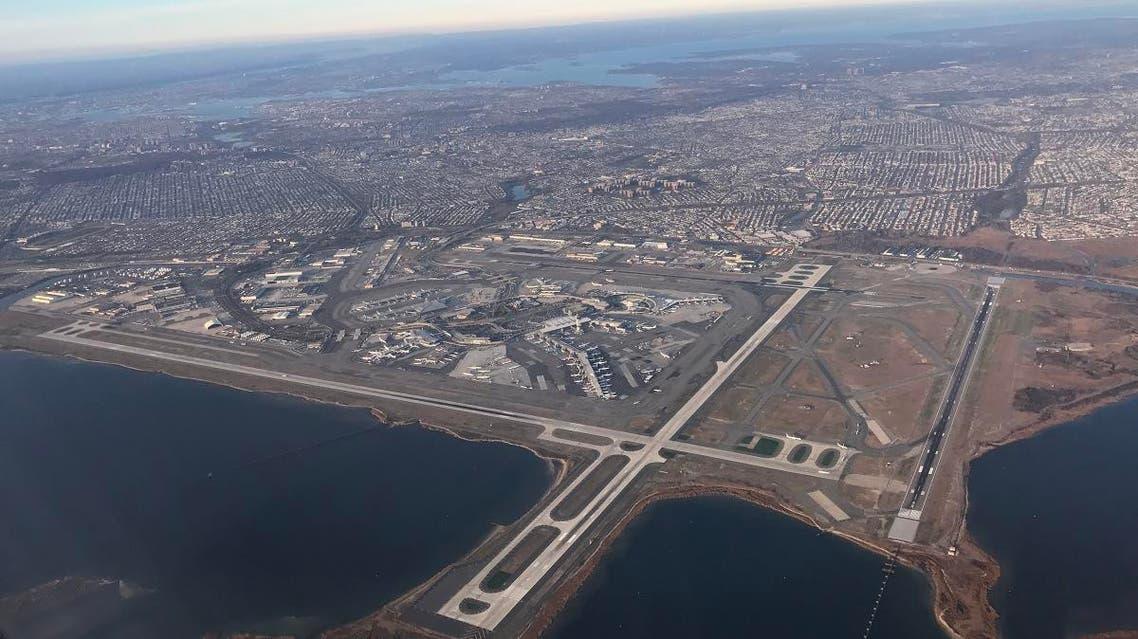 Aerial view of JFK International Airport New York. (File photo: AFP)